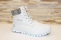 Ботинки зимние белые С526 р 37, фото 1