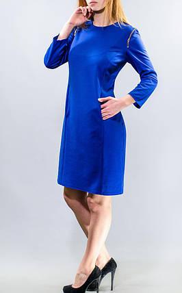 """Стильное женское платье ткань """"Французский трикотаж"""" на рукавах молнии 50 элект размер батал, фото 2"""