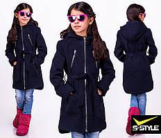 Детское пальто из кашемира с карманами