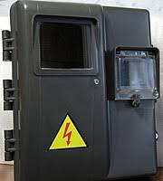 Щиток пластиковый под 1ф. електронный счетчик + 3 модуля ДИМБОРД