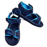 Босоножки открытые синего цвета для мальчика, Clibee