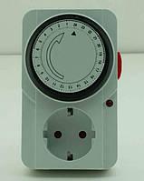 Розетка таймер механический суточный LM660 бытовой, фото 1
