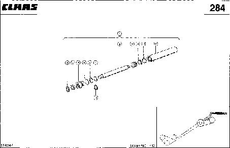 ГИДРОЦИЛИНДР, РАЗГРУЗКА БЕНКЕРА - CLAAS LEX 460-440