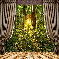 Фотообои вид из окна , лес