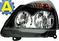 Фара левая и правая черная на Рено Симбол (Renault Symbol) 2006-2008, фото 1