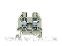 Проходные винтовые клеммы для DIN рейки 35 мм WT 6 серый)
