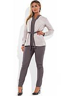 Костюм двойка из блузы и брюк размеры от XL 4144