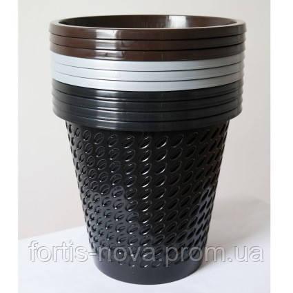 Пластиковая корзина (ведро) для мусора (бумаг) (черный коричневый серый)