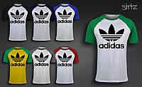 Городская легкая летняя футболка реглан адидас ориджиналс Adidas Originals