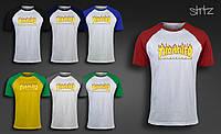 Летняя молодежная футболка спортивная городская реглан трешер Thrasher