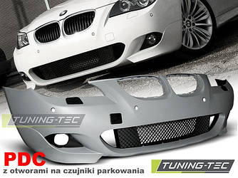 Передний бампер тюнинг обвес BMW E60 E61 стиль M Sport Paket ( 03 - 07 ) PDC