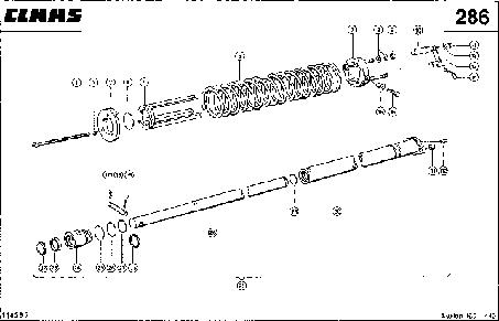 ЦИЛИНДР ЖАТКИ - CLAAS LEX 460-440