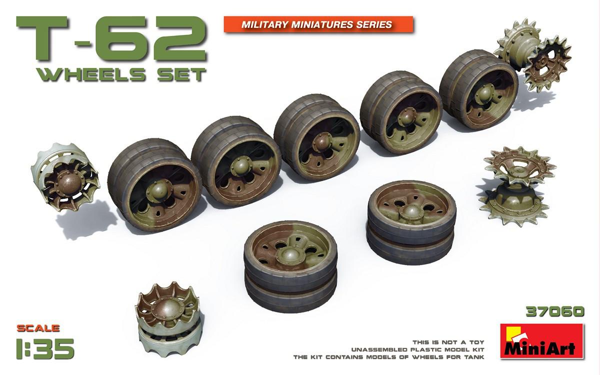 Набор Катков для Танков T-62. 1/35 MINIART 37060