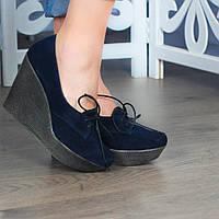 Туфли замшевые на высокой платформе