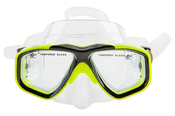 Маска для плавання дитяча Dolvor M230JR лимонна