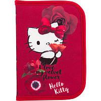 Пенал Kite твердый HK18-622 на одно отделение с двумя отворотами для девочки Hello Kitty , фото 1