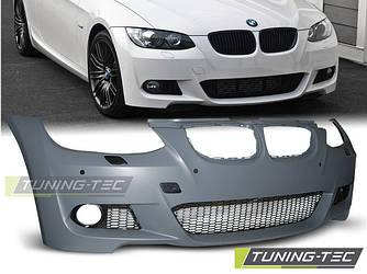 Передний бампер тюнинг обвес BMW E92 E93 стиль M Sport Paket с PDC