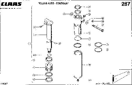 HYDRAULIKZYLINDER; SCHNEIDWERK-QUERANPA - CLAAS LEX 460-440