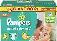 Подгузники Pampers Active Baby-Dry Размер 5 (Junior) 11-18 кг, 87 подгузников