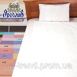 Детское постельное белье белого цвета из плотной бязи