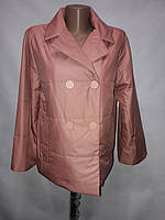"""""""Button"""", демисезонная куртка 60-399 чайная роза"""