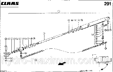 HYDRAULIKZYLINDER; SCHWENKEN KORNT.AUSL - CLAAS LEX 460-440