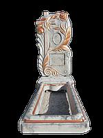 Памятники одинарные - имитация под мрамор