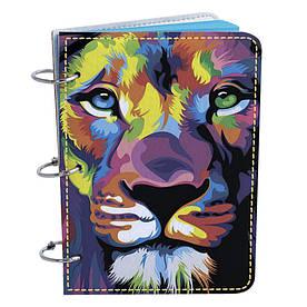 Блокнот Fisher Gifts Элегант А6 15 Цветной лев (эко-кожа)