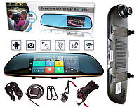 Зеркало регистратор + GPS навигатор  K35/D35 HD1080p с камерой заднего вида