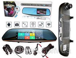 Дзеркало реєстратор + GPS навігатор K35/D35 HD1080p з камерою заднього виду