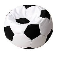 Бескаркасное кресло-мяч футбольный пуф кресло-мешок для детей
