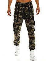 Брюки-джогеры мужские Athletic зеленый камуфляж L 0f4703658ee19