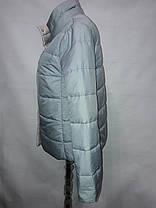"""Button"", демисезонная куртка, две стороны 52-696Голубой/беж, фото 3"