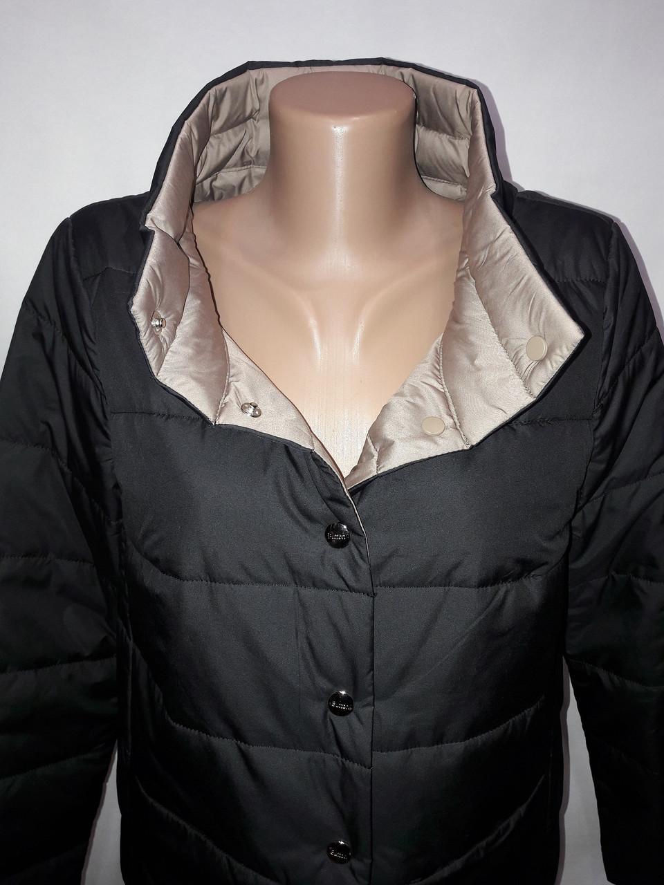 """""""Button"""", демісезонна куртка, дві сторони 52-696 чорний/беж"""