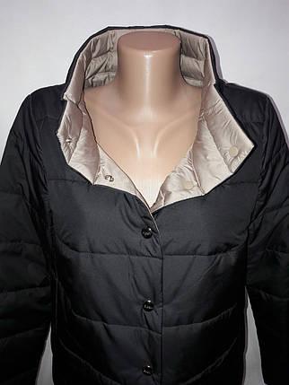 """""""Button"""", демісезонна куртка, дві сторони 52-696 чорний/беж, фото 2"""