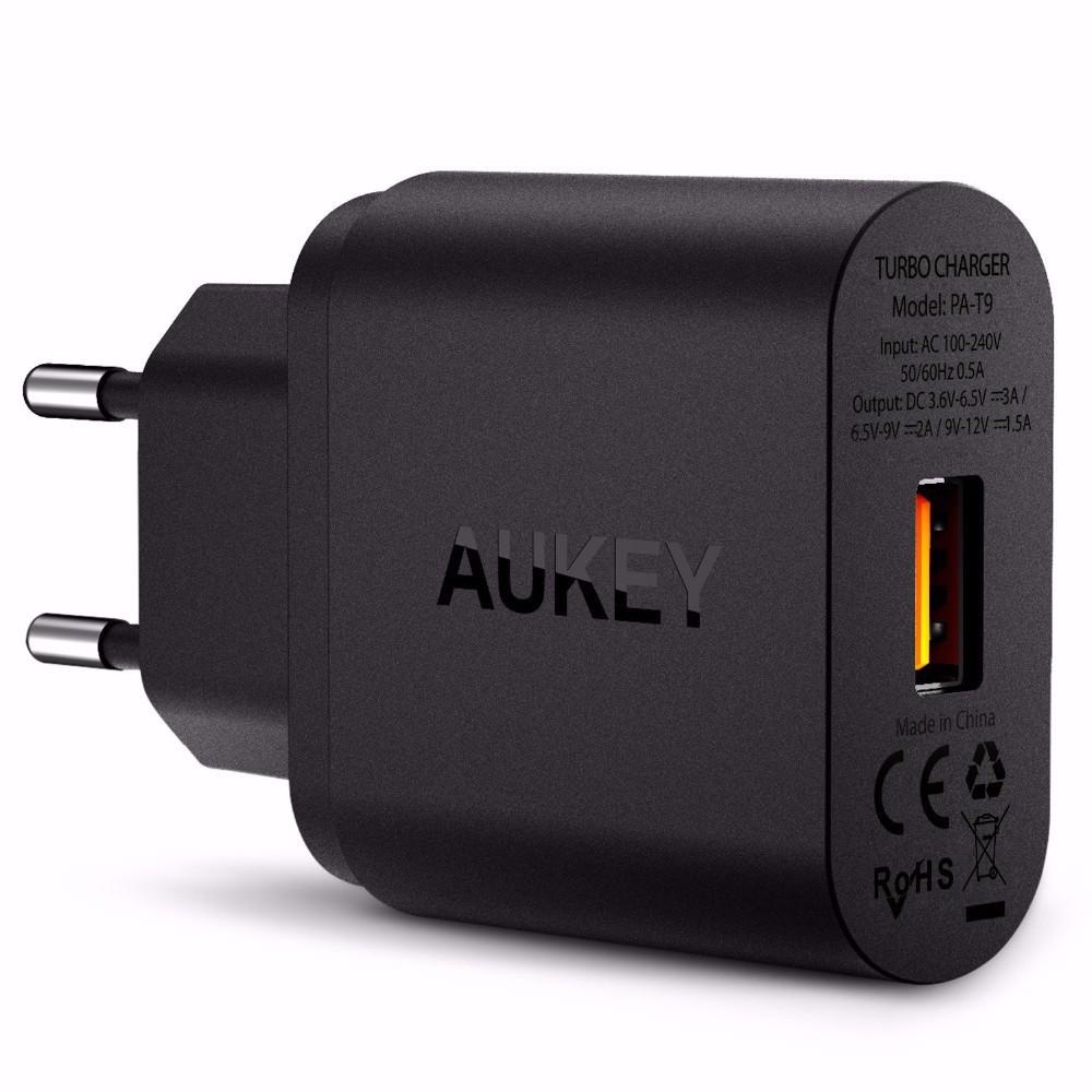 Универсальное умное зарядное устройство Aukey PA-T9 18W Quick Charge 3.0 Быстрая зарядка.