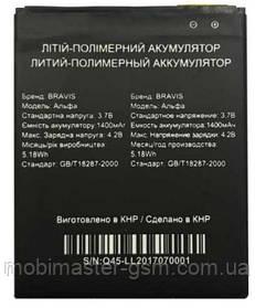 Аккумуляторная батарея для телефона Bravis Alpha (1400mA\h)