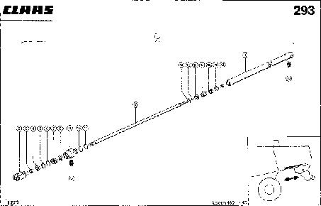 HYDRAULIKZYLINDER; STROHHAECKSLER VOR - - CLAAS LEX 460-440