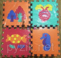 Дитячий ігровий розвиваючий килимок-пазл Преміум