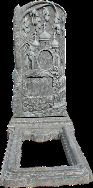 Памятники одинарные - имитация под шлифованный камень