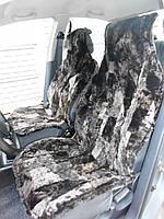 Автомобильные чехлы из овчины черного цвета АЧ3