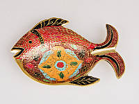 """Блюдо декоративное 18 см., из латуни """"Рыба"""", Shi Ram Exports"""