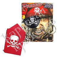 Набор Пирата (бандана, серьга, повязка на глаз), фото 1