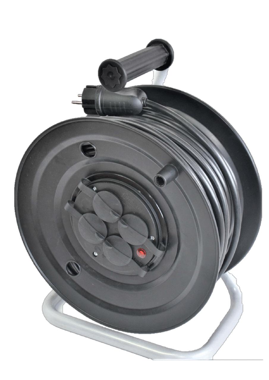 Электрический удлинитель на катушке без з/к  25м (ПВС 2*1,5)ЛІДЕР ЕНЕРГО КОМПЛЕКТ