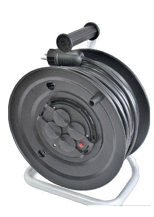 Электрический удлинитель на катушке без з/к  25м (ПВС 2*1,5)ЛІДЕР ЕНЕРГО КОМПЛЕКТ, фото 2