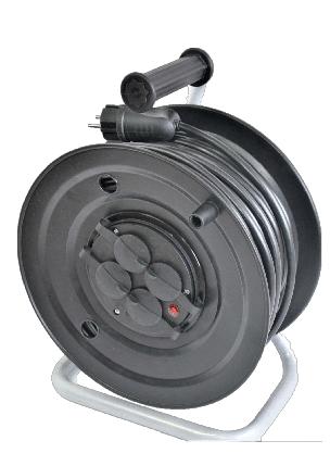 Электрический удлинитель на катушке без з/к  30м (ПВС 2*1,5)ЛІДЕР ЕНЕРГО КОМПЛЕКТ, фото 2