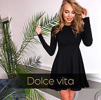 Платье женское Ткань-дайвинг  Цвета -бардо чёрный фото реал супер качество лкар №6343