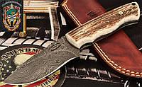 Нож охотничий Damascus New Zealand Red Stag Skinner Hunter (Дамаск, Рог оленя)
