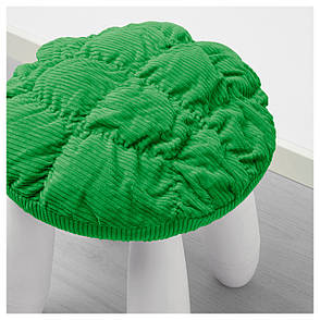 СТИККАТ Чехол для табурета Маммут, зеленый 00296271 IKEA, ИКЕА, STICKAT, фото 2