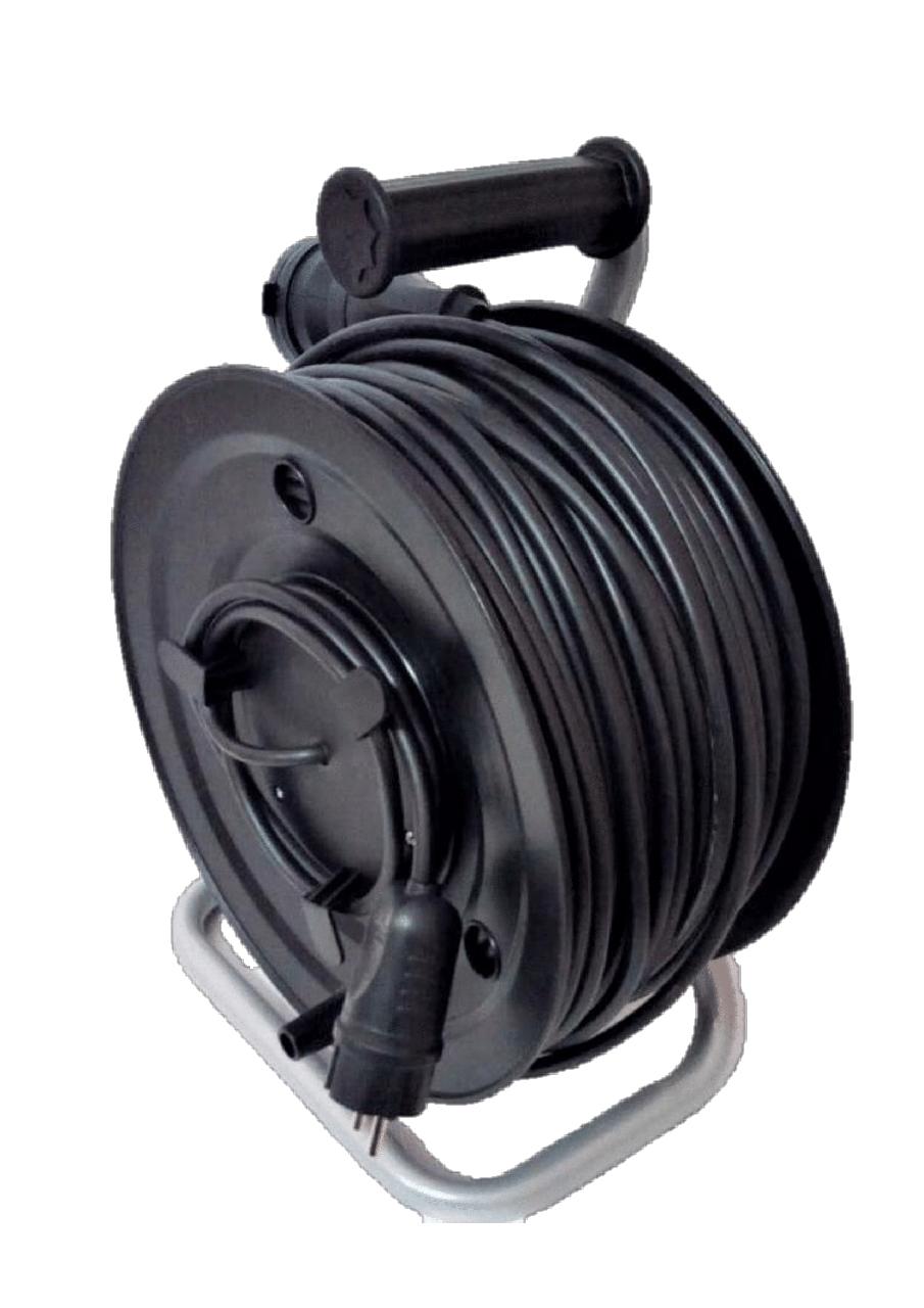 Электрический удлинитель на катушке без з/к  с выносной розеткой 20м (ПВС 2*1,5)ЛІДЕР ЕНЕРГО КОМПЛЕКТ